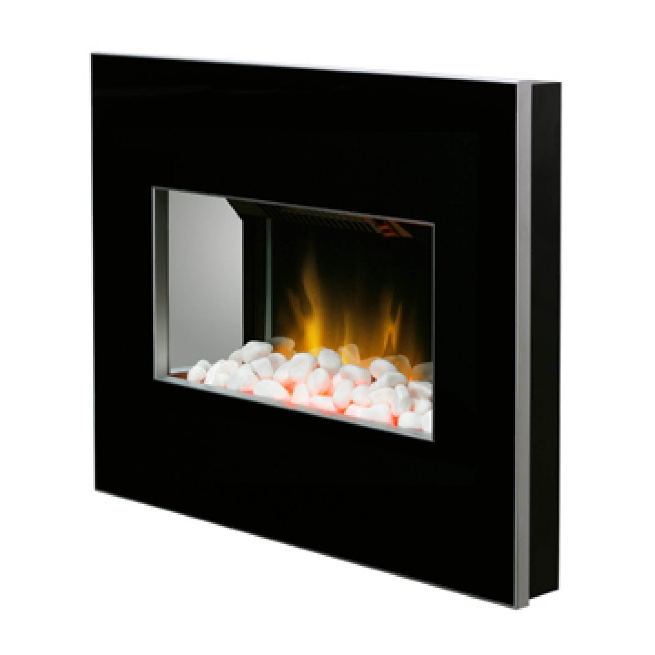 Dimplex Clova Black White 2kw Wall Mounted Electric Fire