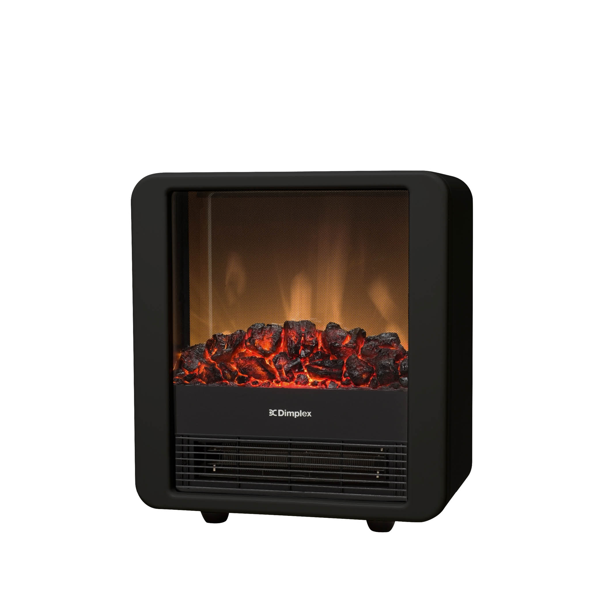 Dimplex Mini Cube Black/Red 1.5kW Portable Electric Fire ...