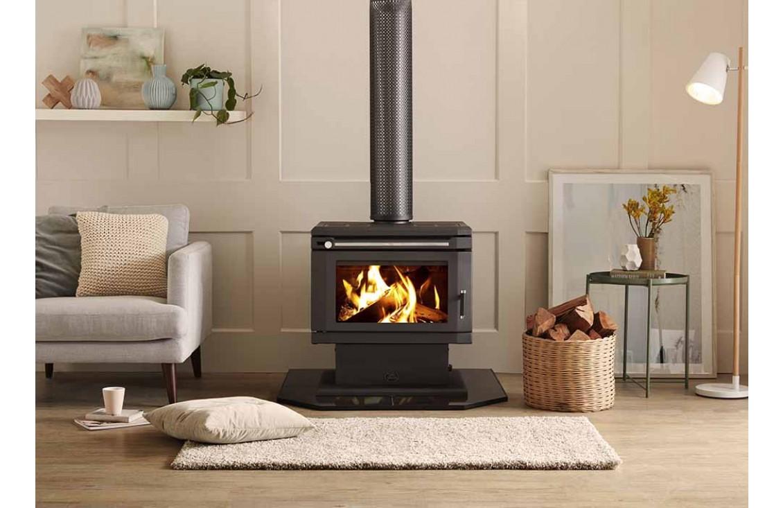 Saxon Blackwood Freestanding Wood Fire Gold Coast