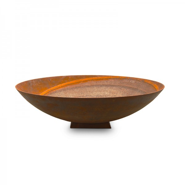 120cm Large Firepit Rust Bowl Gold Coast Fireplace And