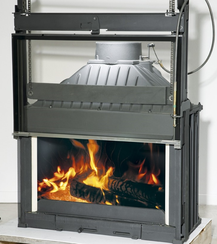 Chemin es philippe radiante 844 wood fire single front view gold coast fireplace and bbq - Cheminee philippe insert ...
