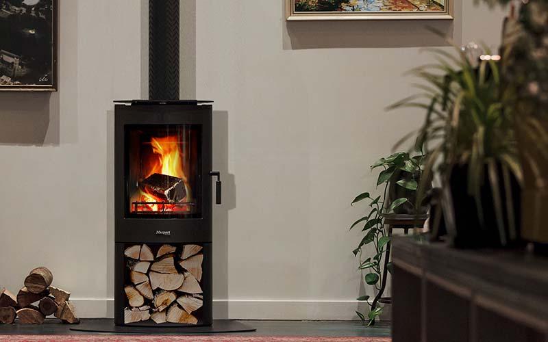 Masport Fireplace: Masport ADENA Woodstacker Wood Fire
