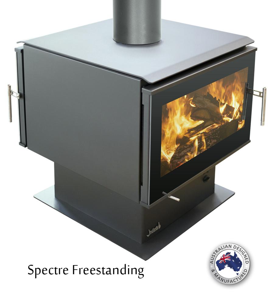 Jindara Spectre Dual Door Wood Fire Gold Coast Fireplace