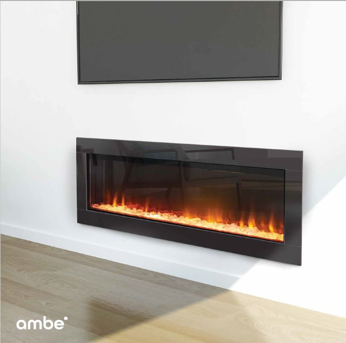 Ambe Linear 50 Electric Fireplace Gold Coast Fireplace